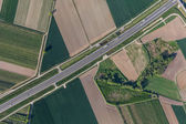 Aerial view of highway — Foto Stock