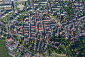 Aerial view of Olesnica city — Stock Photo