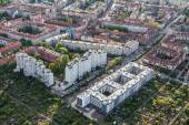 Aerial view of wroclaw city suburbs — Stock Photo