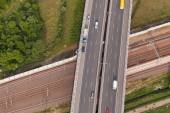 高速道路の空中写真 — ストック写真