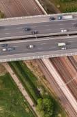 鸟瞰的公路 — 图库照片