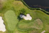 Aerial view over golf field in Poland — Stock Photo