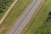 Letecký pohled na dálnici — Stock fotografie