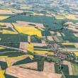 Aerial view of harvest fields — Stock Photo #76176505