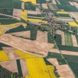 Aerial view of harvest fields — Stock Photo #76183223