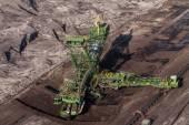 Letecký pohled na uhelný důl — Stock fotografie
