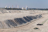 Aerial view of coal mine — Stock Photo