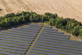 Aerial view of solar power plant — Stock Photo