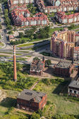 Aerial view of Wroclaw city — Stock Photo