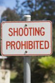 Restriction Sign shooting prohibited — Stock Photo