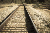 Remote railway track in country blurred — Stock Photo