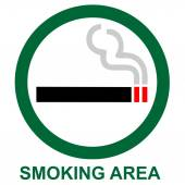 Smoking area sign — Stock Photo