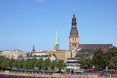 View of Riga with Riga Cathedral. Latvia — Stock Photo