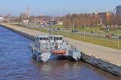 "Latvian patrol ship ""Skrunda"" — Stock Photo"