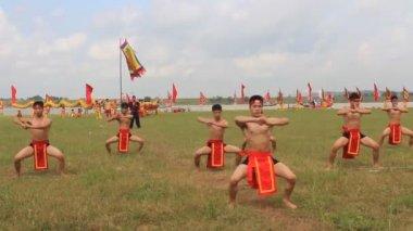 Arts martiaux praticiens performance des arts martiaux traditionnels — Vidéo