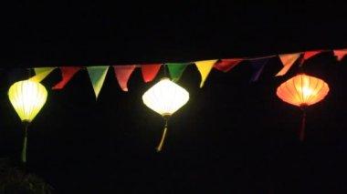 Floating lantern in traditional festival, vietnam — Stock Video
