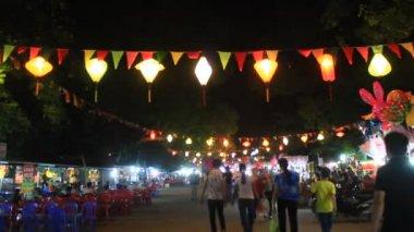 Floating lantern in traditional festival, vietnam — Video Stock