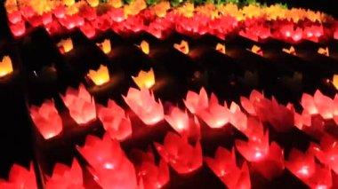 Ljusen i traditionell festival, vietnam — Stockvideo