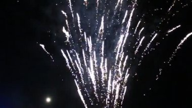 Fireworks in a traditional festival, vietnam — Video Stock