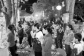 Monks and the faithful ceremony at Con Son Pagoda — Stock Photo