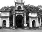 Gate of rural village in Vietnam — Stock Photo