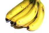 Ripe banana isolated on white background  — Stock Photo