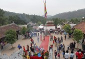 People attended traditional festival — Stock Photo