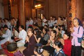 group of people ceremony in the temple, vietnam  — Photo