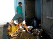 Fishermen washed sea snails — Stock Photo