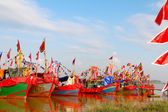 Performed traditional boat on — Stock Photo