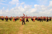 HAI DUONG, VIETNAM, SEPTEMBER, 10:martial arts practitioners per — Stock Photo