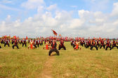 HAI DUONG, VIETNAM, SEPTEMBER, 10:martial arts practitioners per — Stock Photo