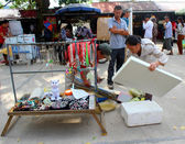 HAI DUONG, VIETNAM, SEPTEMBER, 10: People selling good on Septem — Foto Stock