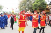 Group of people attending traditional festivals — Stok fotoğraf