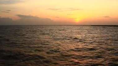 Sunset on the beach — Stock Video