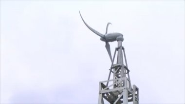 Rotor wind and sky — Stock Video