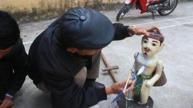 HAI DUONG, VIETNAM, artisans and water puppetry in Vietnam — Stock Video