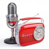 Microphone and retro radio — Foto de Stock