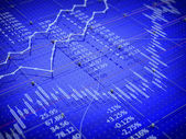 Stock exchange trade chart bar candles concept — Stock Photo