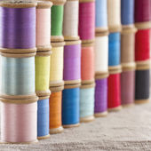 Colorful spools of thread — Stock Photo