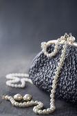 Old elegant vintage handbag — Stockfoto