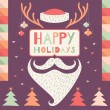 Merry Christmas greeting card — Stock Vector #52857163