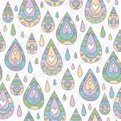 Jesień wzór z krople deszczu — Wektor stockowy