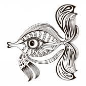 Cartoon fish. Graphic design — Stock Vector