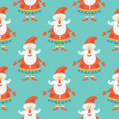 Christmas seamless pattern with Santa Claus — Stock Vector