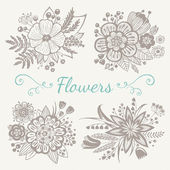Bloemen boeketten — Stockvector