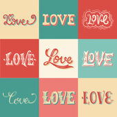 Vintage love hand-lettering — Stock Vector