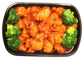 General TSO Chicken and Brocolli To Go — Stock Photo