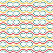 Seamless circle pattern. abstract geometric pattern background — Stock Vector