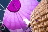 Hot Air Balloon burners in balloon — Stock Photo